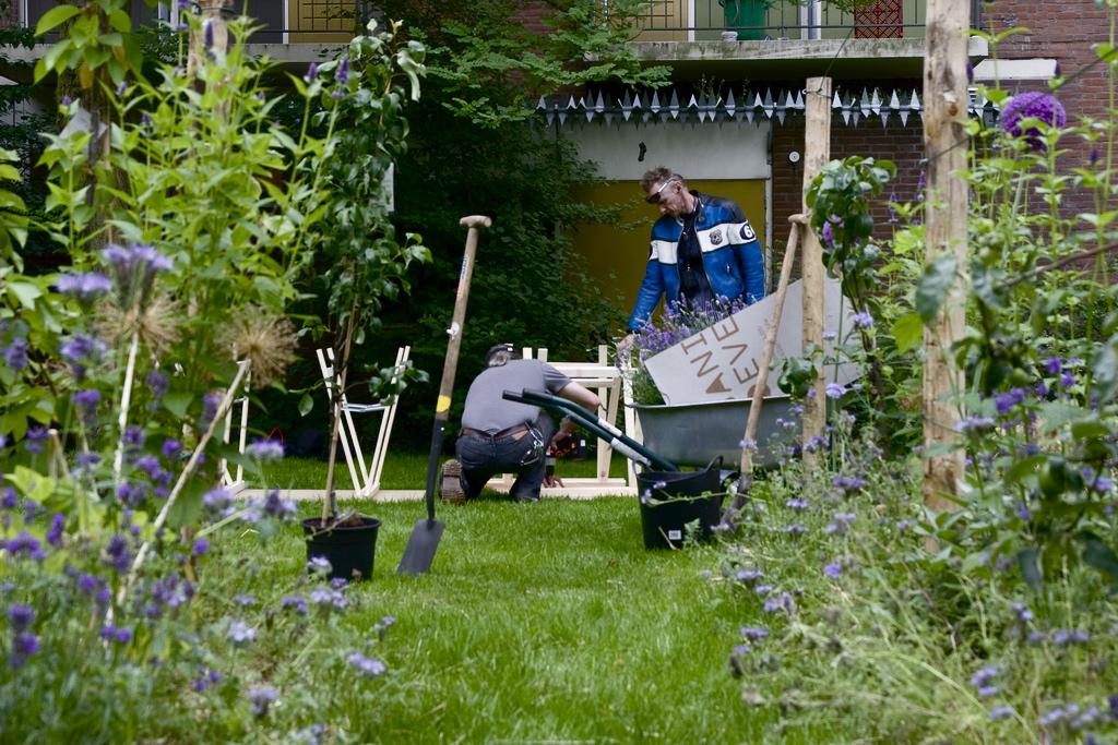 Leifruit Boomgaarden – 1 van de 4 beplantingstypologieën na 1 jaar Foodscape Schilderswijk