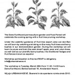 Budding Orchardist / workshop DemoTuinNoord on 25 March