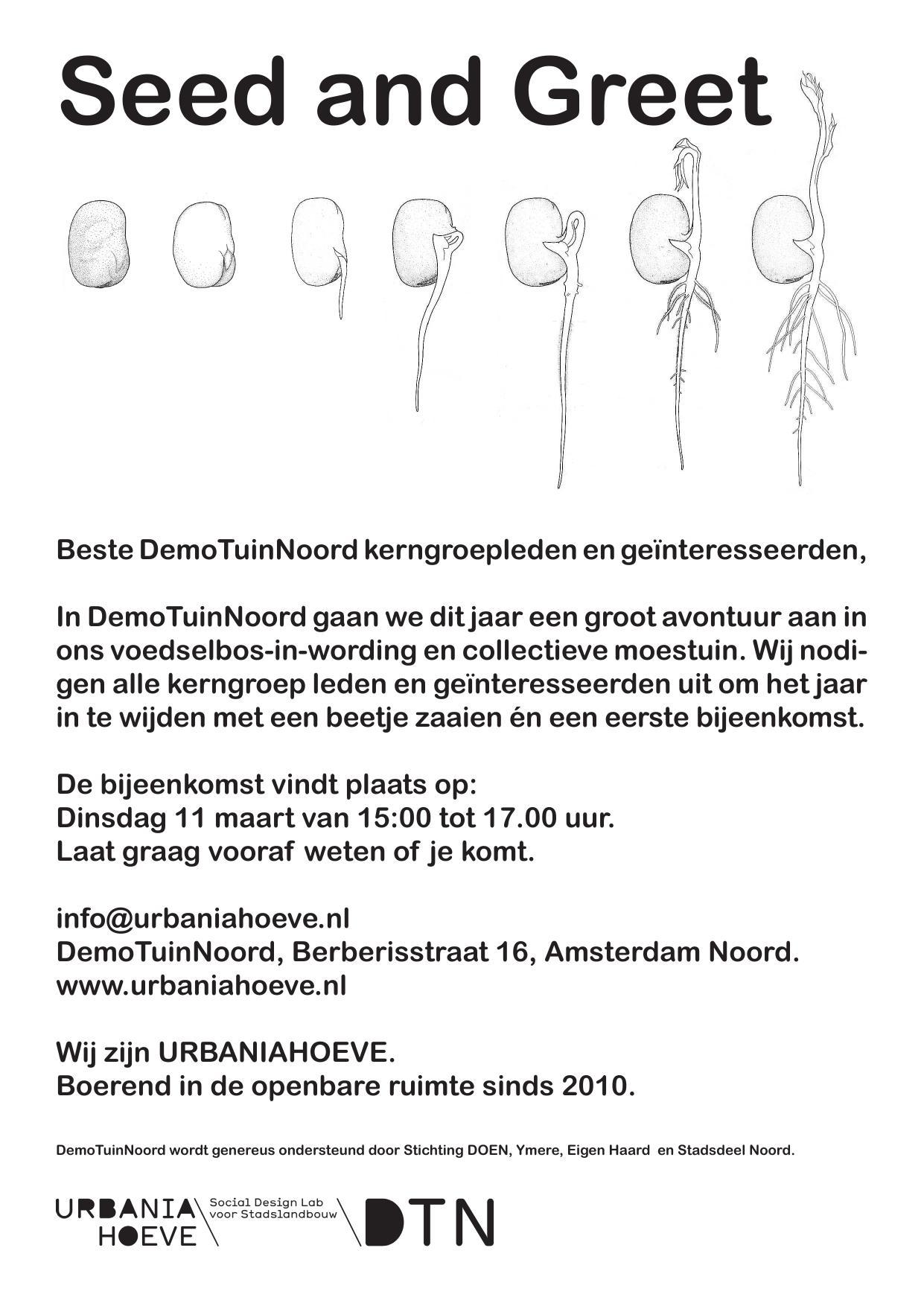 Seed & Greet  / DemoTuinNoord