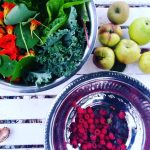 An other #harvest day during #autumn :) #raspberry #kale #apple #herbs